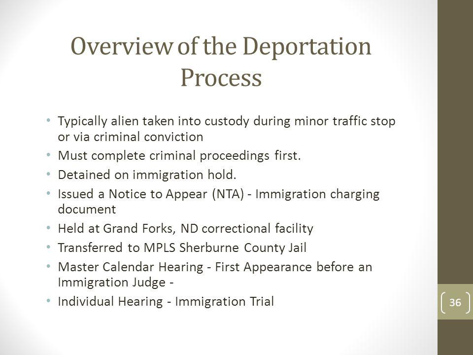 Overview of the Deportation Process