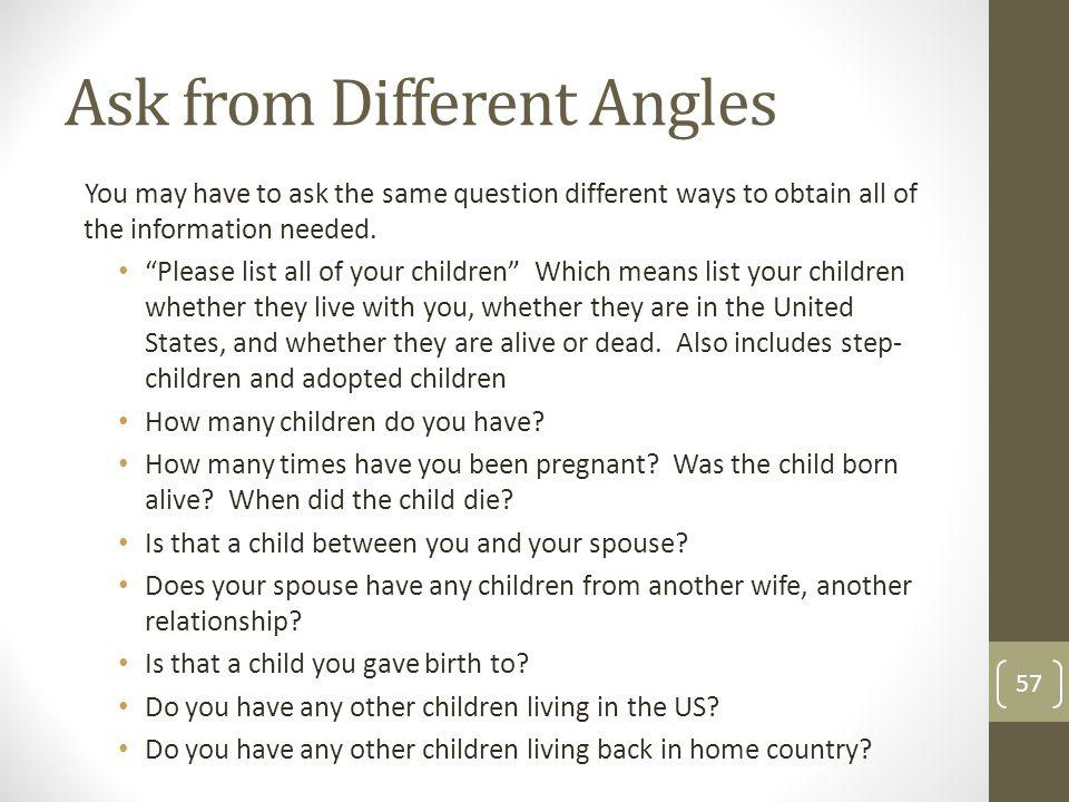 Ask from Different Angles