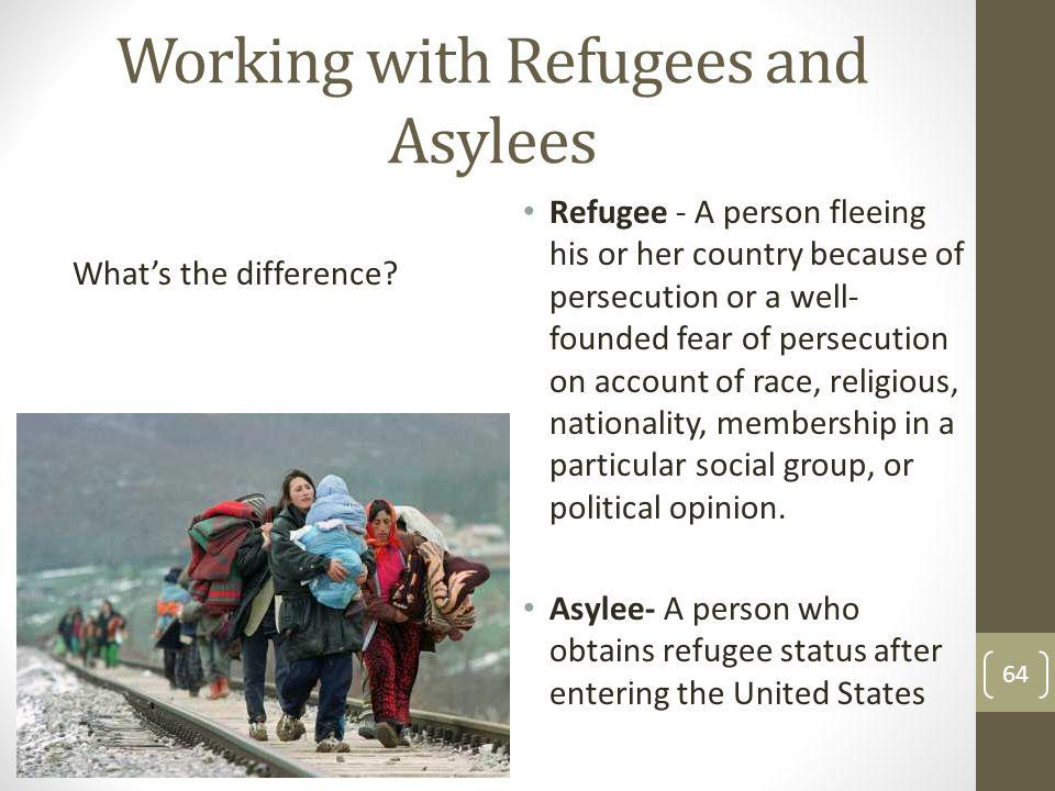 Working with Refugees and Asylees