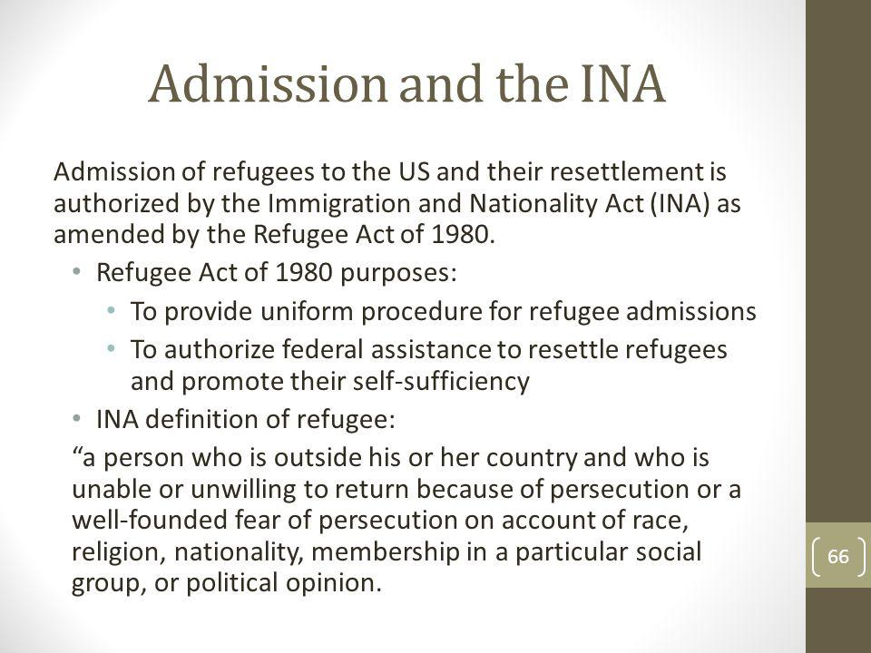Admission and the INA