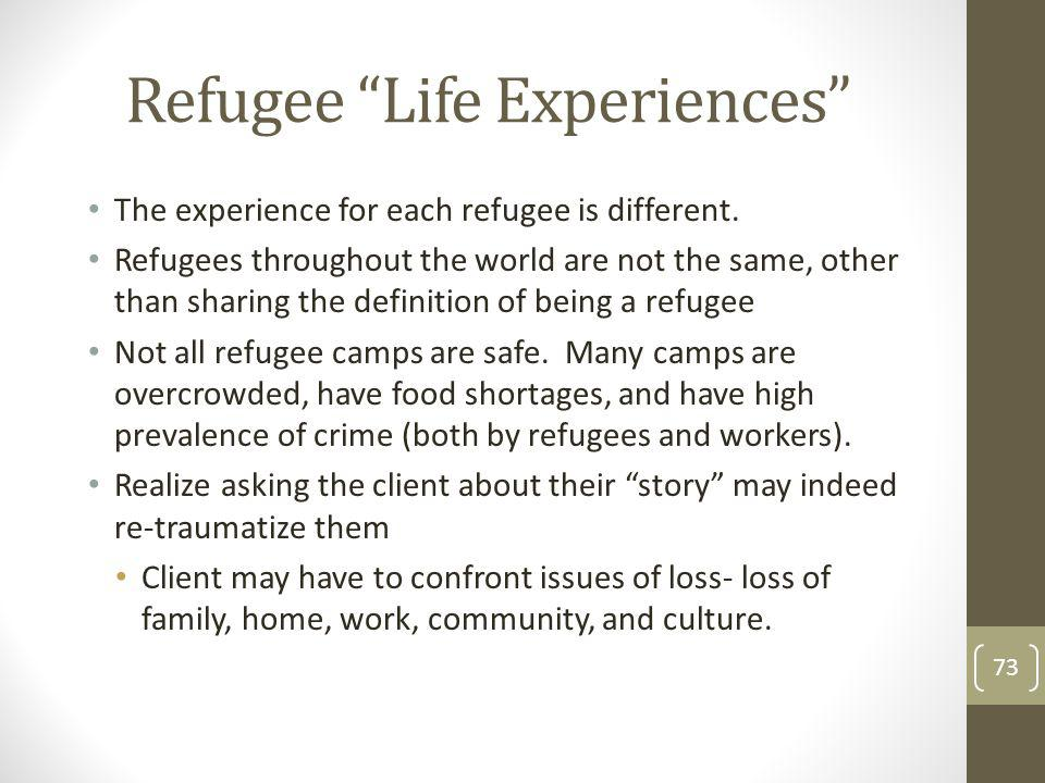 Refugee Life Experiences