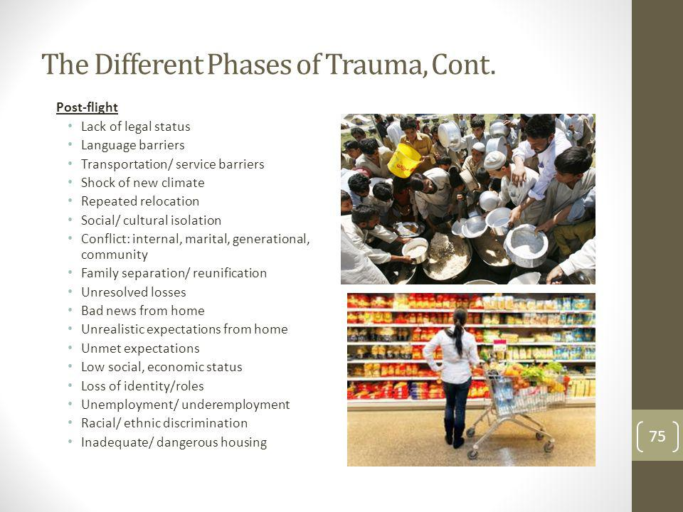 The Different Phases of Trauma, Cont.