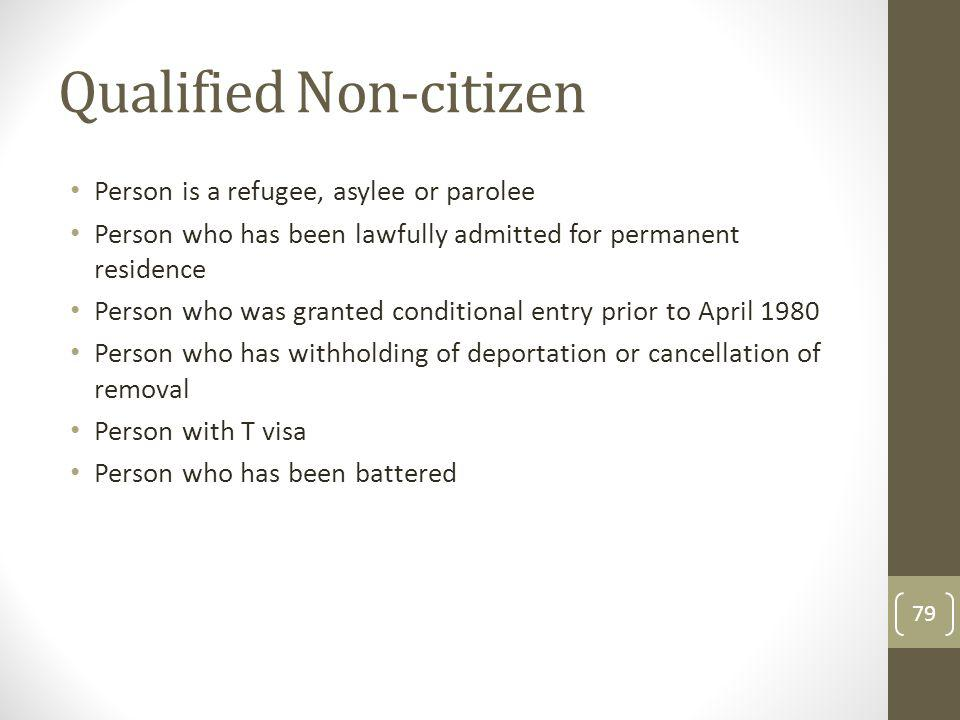 Qualified Non-citizen