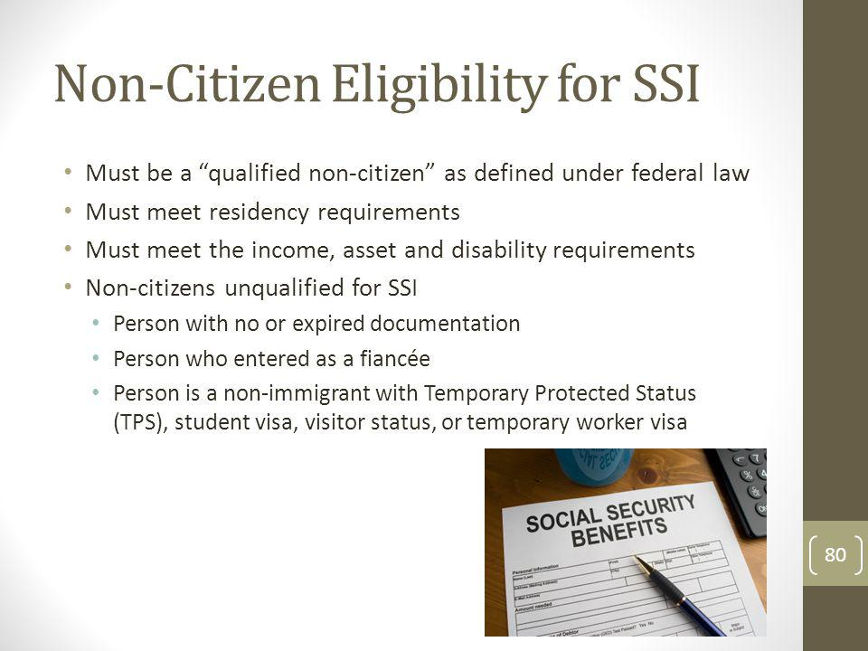Non-Citizen Eligibility for SSI