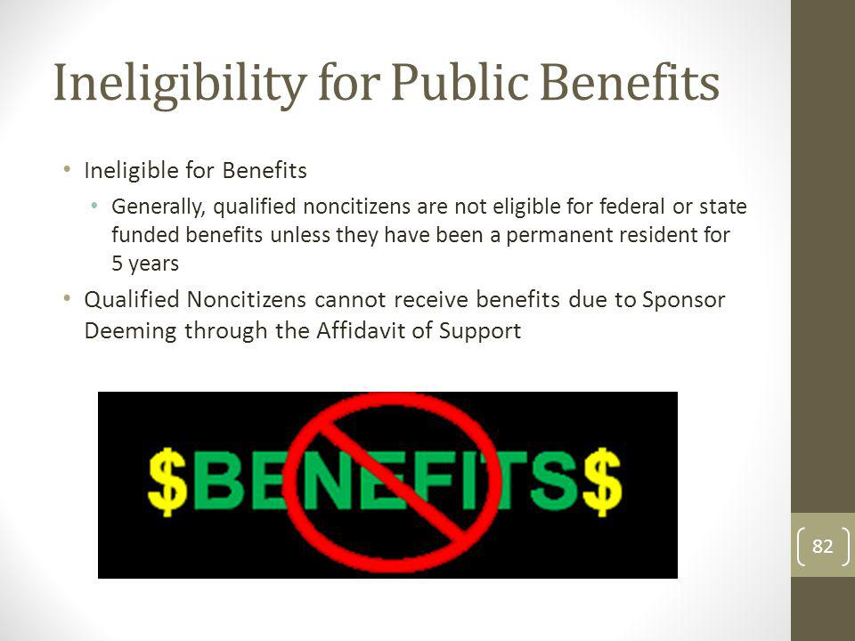 Ineligibility for Public Benefits