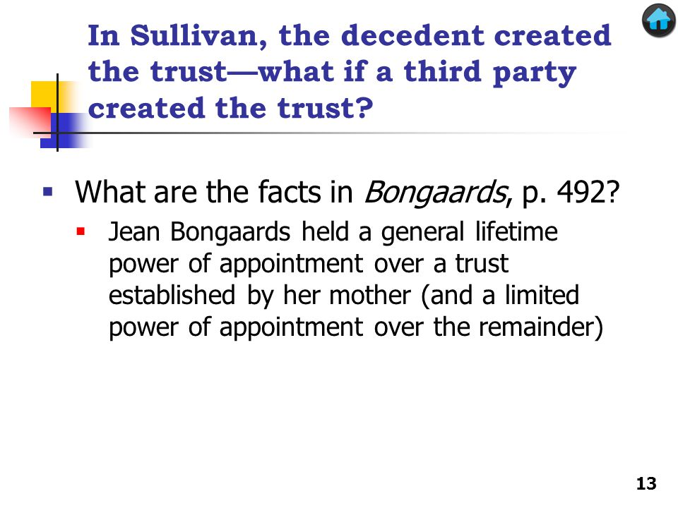 What are the facts in Bongaards, p. 492