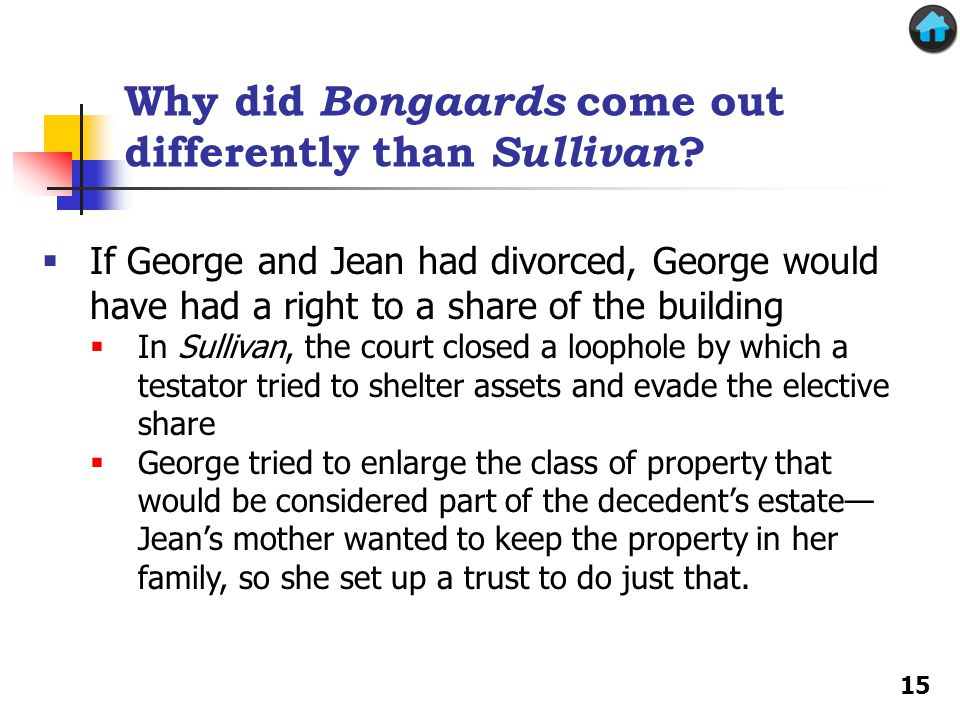Why did Bongaards come out differently than Sullivan