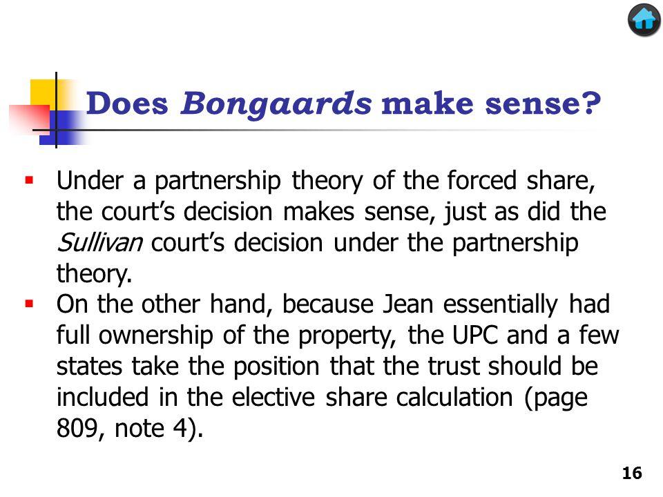 Does Bongaards make sense