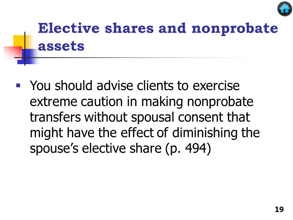 Elective shares and nonprobate assets