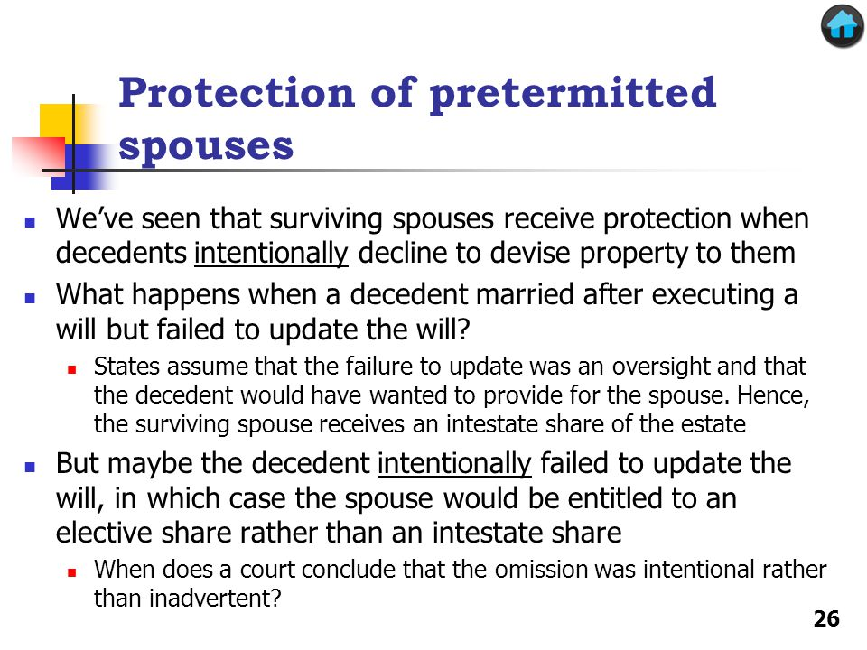 Protection of pretermitted spouses
