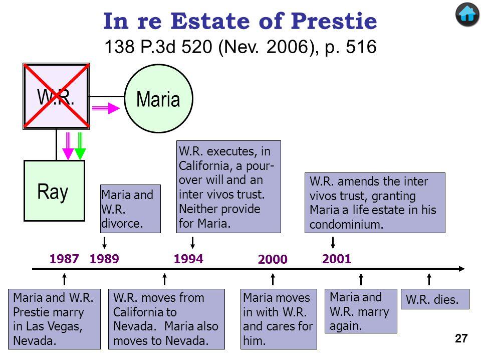 In re Estate of Prestie 138 P.3d 520 (Nev. 2006), p. 516