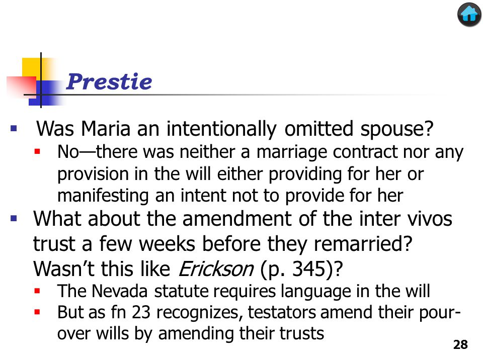 Prestie Was Maria an intentionally omitted spouse