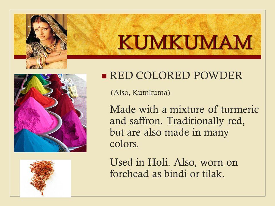 KUMKUMAM RED COLORED POWDER