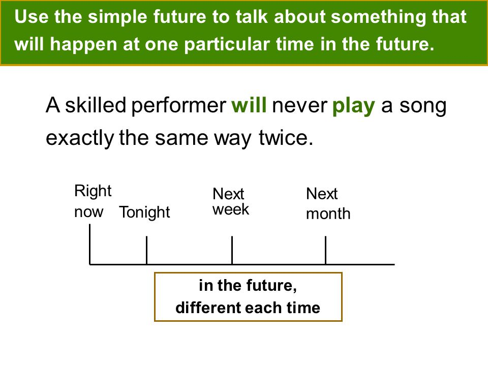 A skilled performer will never play a song exactly the same way twice.