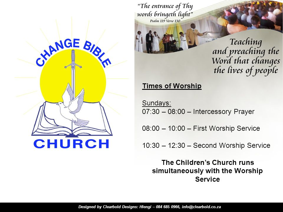The Children's Church runs simultaneously with the Worship Service