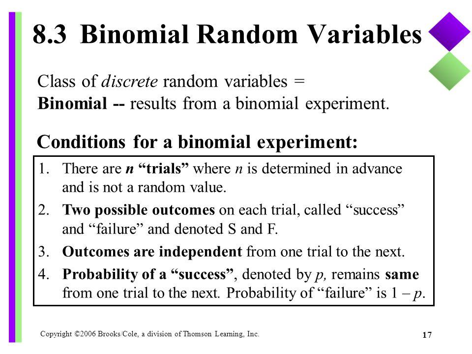 8.3 Binomial Random Variables