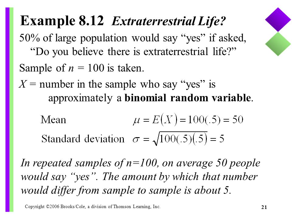 Example 8.12 Extraterrestrial Life