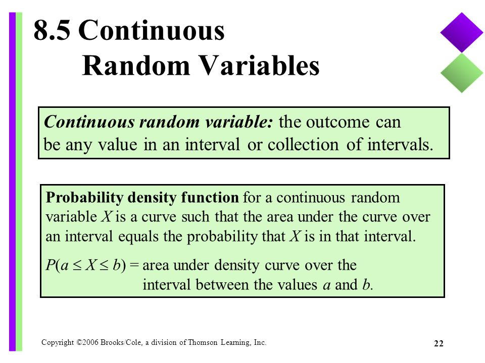 8.5 Continuous Random Variables