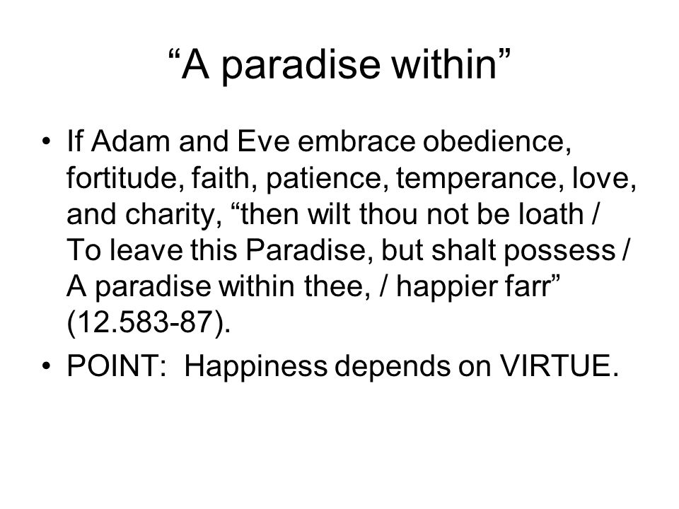 A paradise within