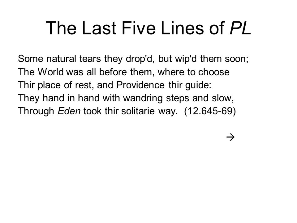 The Last Five Lines of PL