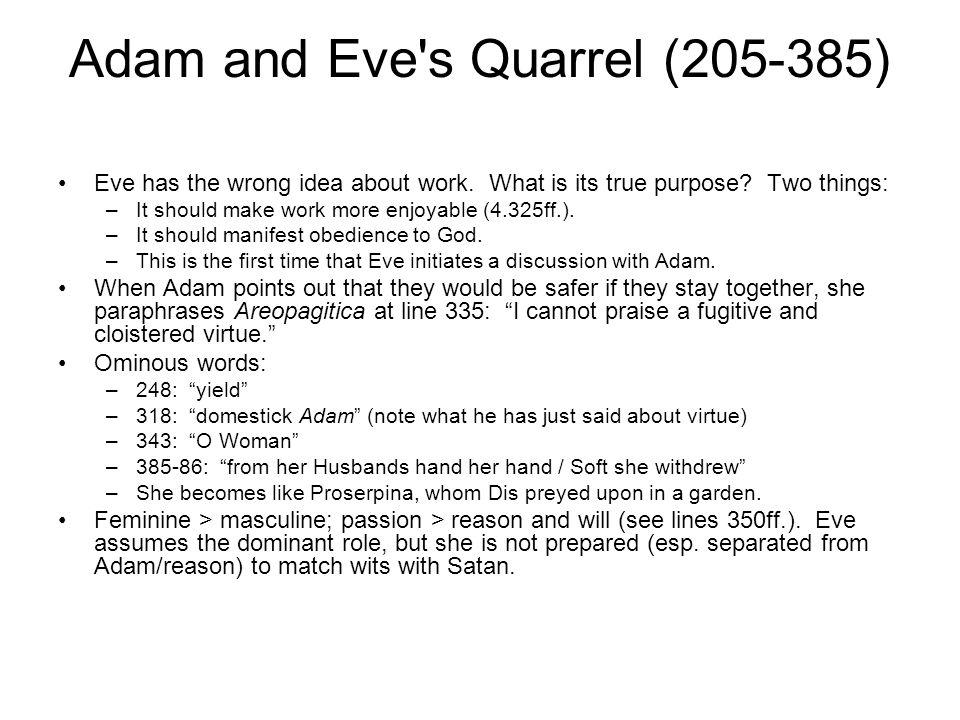 Adam and Eve s Quarrel (205-385)