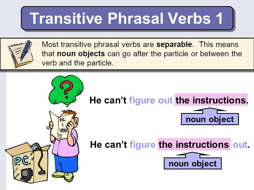 Transitive Phrasal Verbs 1