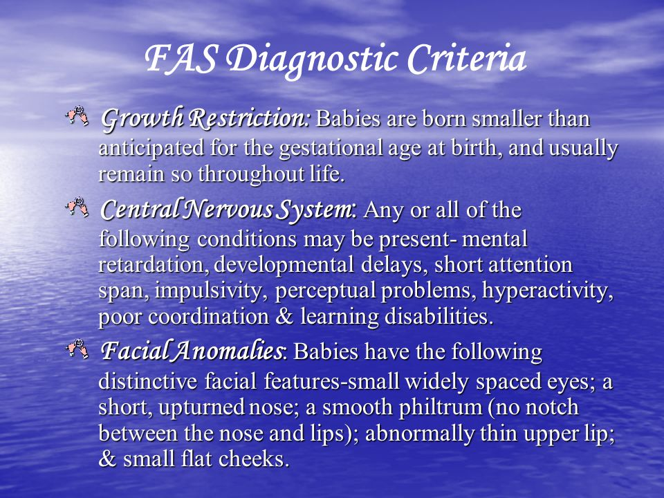 FAS Diagnostic Criteria