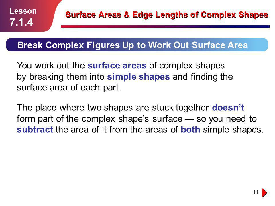 7.1.4 Break Complex Figures Up to Work Out Surface Area