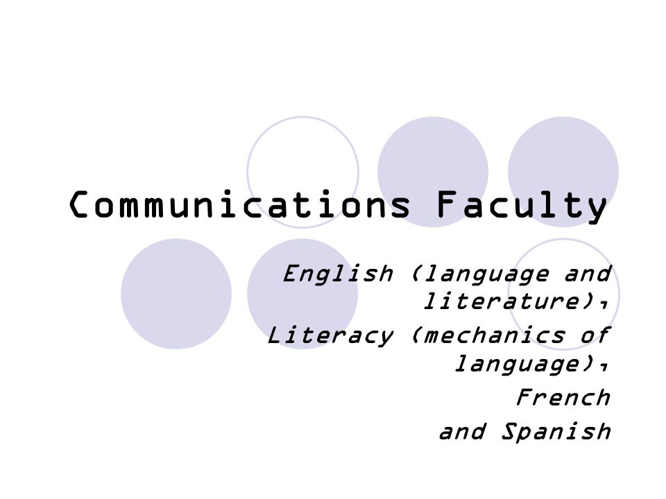 Communications Faculty