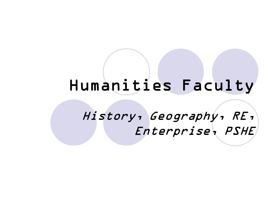 History, Geography, RE, Enterprise, PSHE