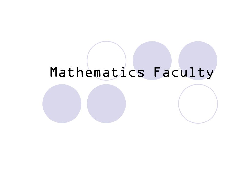 Mathematics Faculty