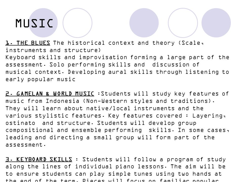 MUSIC 1. THE BLUES The historical context and theory (Scale, instruments and structure)