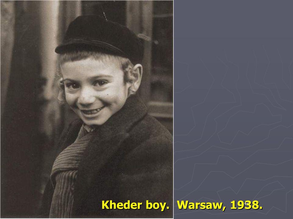 Kheder boy. Warsaw, 1938. 44