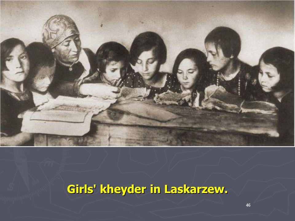 Girls kheyder in Laskarzew.