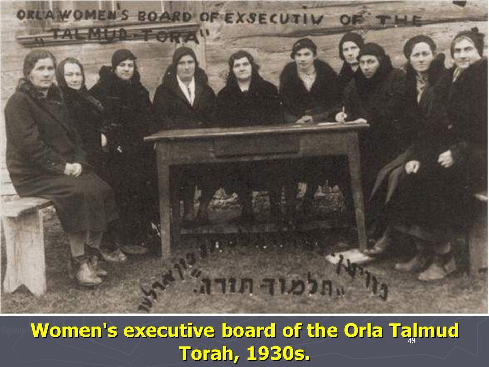 Women s executive board of the Orla Talmud Torah, 1930s.