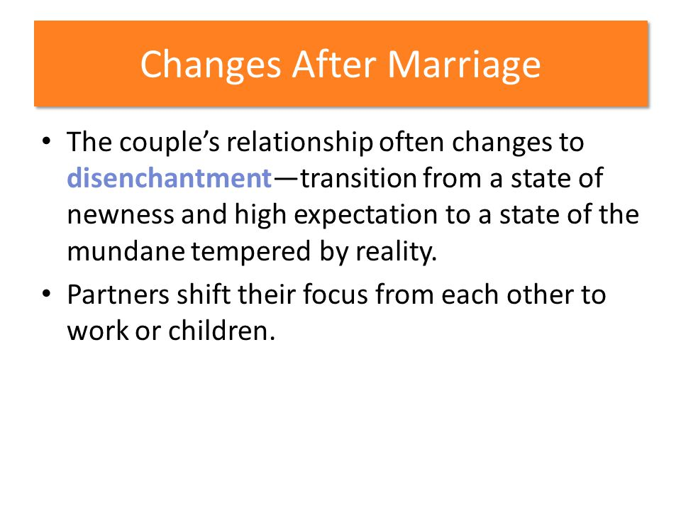 Changes After Marriage