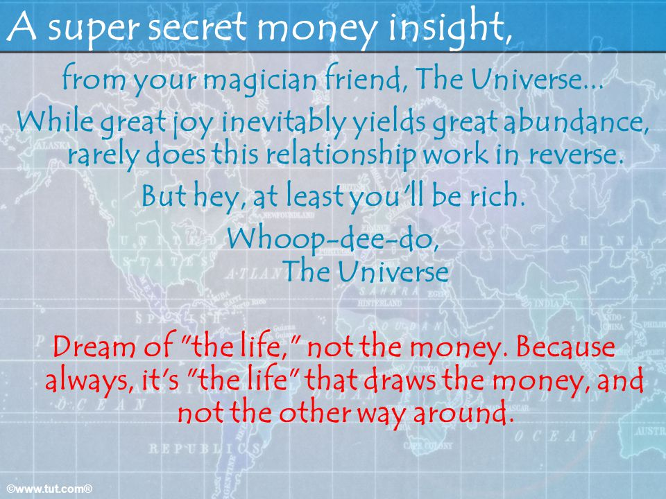 A super secret money insight,