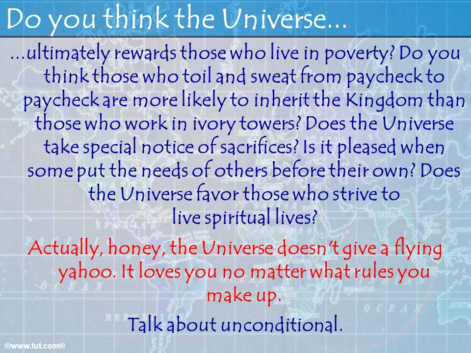 Do you think the Universe...