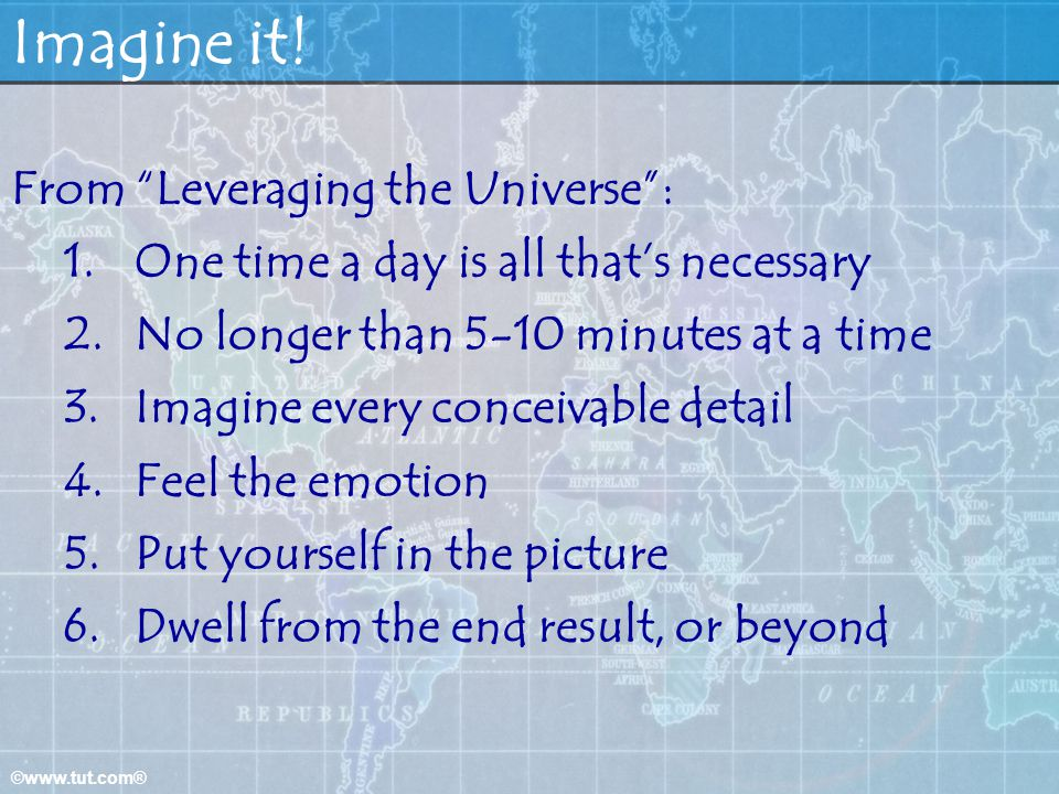 Imagine it! From Leveraging the Universe :