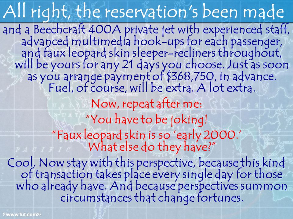 All right, the reservation s been made
