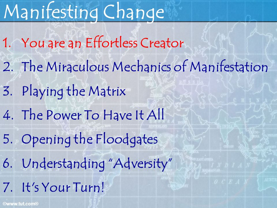 Manifesting Change You are an Effortless Creator