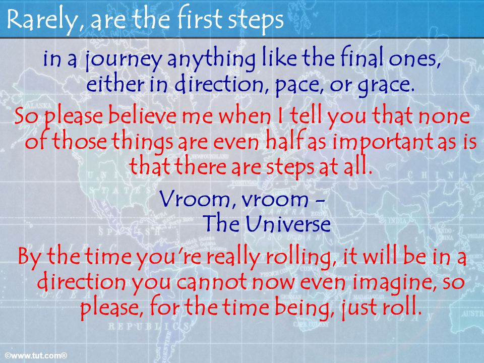 Rarely, are the first steps