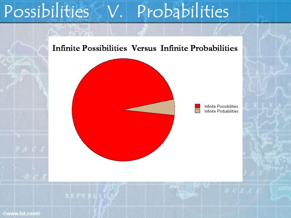 Possibilities V. Probabilities