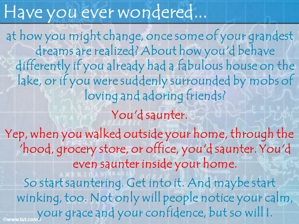 Have you ever wondered...