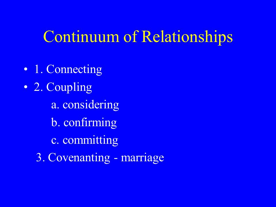 Continuum of Relationships