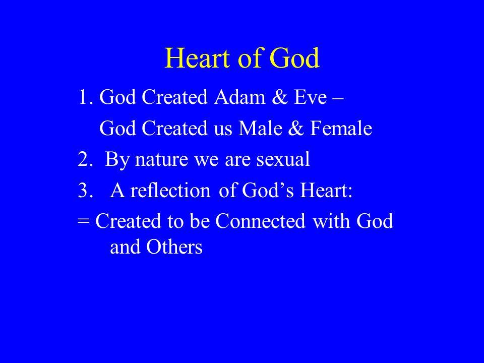 Heart of God 1. God Created Adam & Eve – God Created us Male & Female