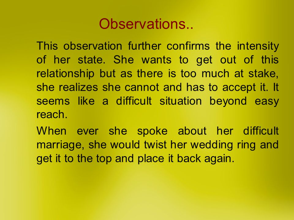 Observations..