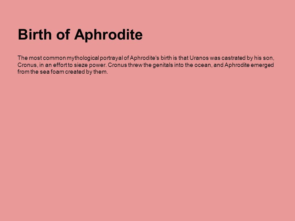 Birth of Aphrodite