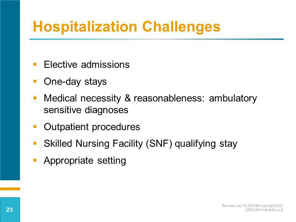 Hospitalization Challenges