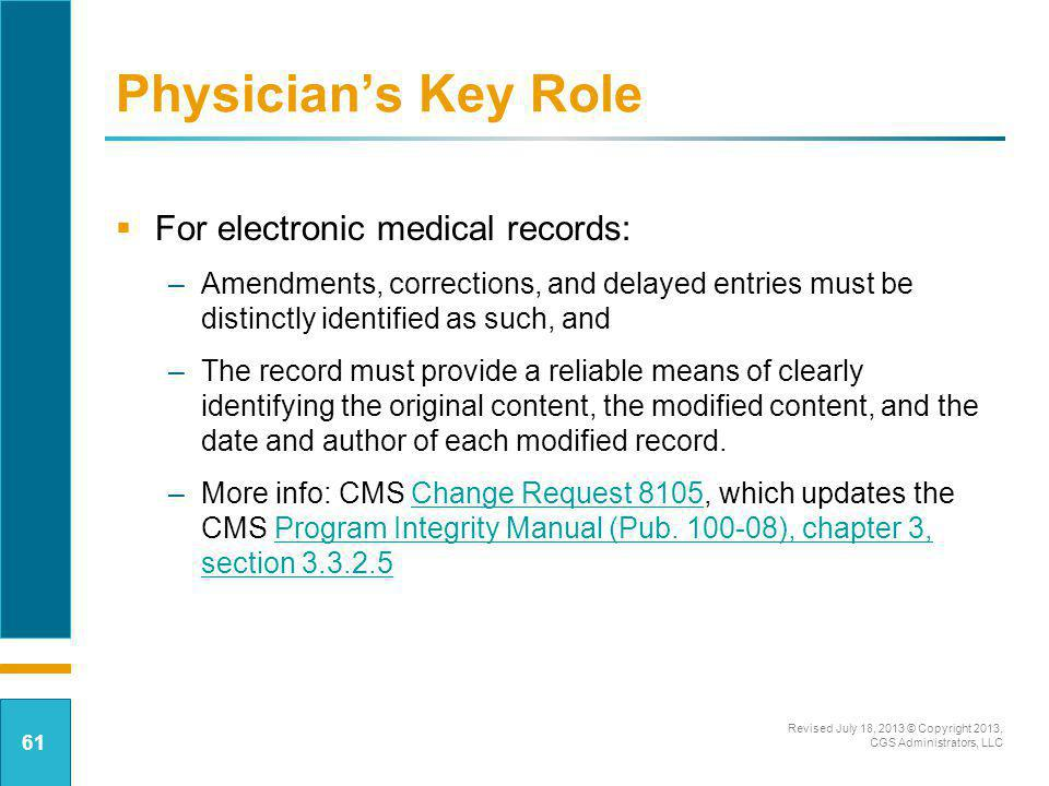 Physician's Key Role For electronic medical records: